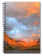 Sinopah Mountain And Two Medicine Lake Sunrise Glacier National Park Montana Spiral Notebook