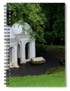 Two Meditating Cupolas In Fort Canning Park Singapore Spiral Notebook