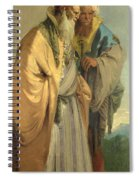 Two Men In Oriental Costume Spiral Notebook