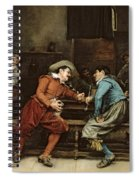 Two Men Talking In A Tavern Spiral Notebook