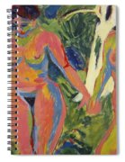 Two Nude Women In A Wood Spiral Notebook