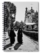 Two Nuns- Black And White - Novodevichy Convent - Russia Spiral Notebook