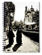 Two Nuns - Sepia - Novodevichy Convent - Russia Spiral Notebook