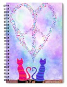 Two Of Hearts Spiral Notebook