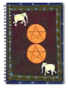 Two Of Pentacles Spiral Notebook