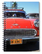 Two Old American Cars Spiral Notebook