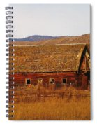 Two Old Barns Near Thorp  Wa Spiral Notebook