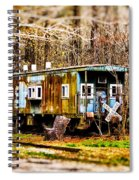 Two Old Cabooses Spiral Notebook