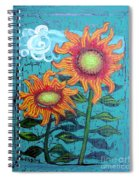 Two Orange Sunflowers Spiral Notebook