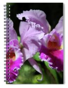 Two Orchids  Spiral Notebook