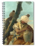 Two Orientals Seated Under A Tree Spiral Notebook