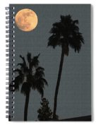 Two Palms And The Moon Spiral Notebook