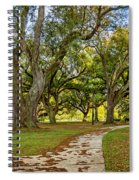 Two Paths Diverged In A Live Oak Wood...  Spiral Notebook