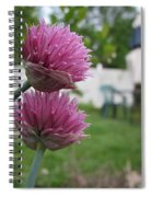 Two Pink Chives Spiral Notebook