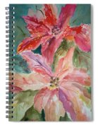 Two Poinsettias Spiral Notebook