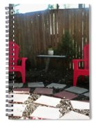 Two Red Chairs Spiral Notebook