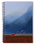 Two Red Farm Buildings Spiral Notebook