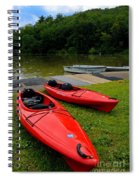 Two Red Kayaks Spiral Notebook