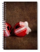 Two Red Ornaments Spiral Notebook