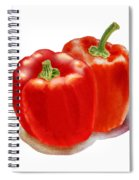 Two Red Peppers Spiral Notebook