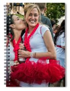 Two Red Tutus At Running Of The Bulls Spiral Notebook
