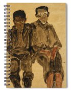 Two Seated Boys Spiral Notebook