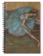 Two Seated Dancers Spiral Notebook