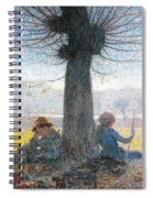 Two Shepherds On The Fields Of Mongini Spiral Notebook