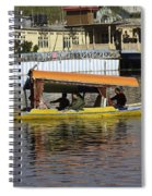 Two Shikaras Next To Each Other In The Dal Lake Spiral Notebook