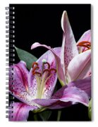 Two Star Lilies Spiral Notebook