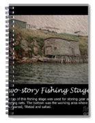 Two-story Fishing Stage Spiral Notebook