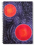 Two Suns Original Painting Spiral Notebook
