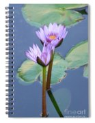 Two Tall Water Lilies Spiral Notebook