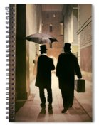 Two Victorian Men Wearing Top Hats In The Old Alley Spiral Notebook