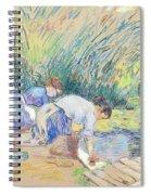 Two Washerwomen Spiral Notebook