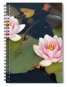 Two Water Lillies Spiral Notebook
