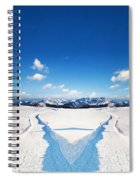 Two Ways Choice In Winter Spiral Notebook