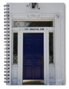 Two Whale Oil Row - Blue Door - New London Spiral Notebook