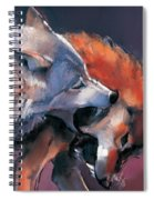 Two Wolves Spiral Notebook