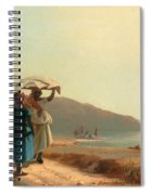 Two Women Chatting By The Sea. St Thomas Spiral Notebook
