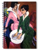 Two Women With A Washbasin Spiral Notebook