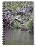 Two Working Beavers Spiral Notebook