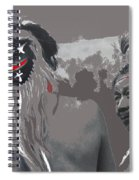 Two Yaqui Pascola Dancers Gallery In The Sun Tucson Arizona 1969-2013 Spiral Notebook