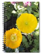 Two Yellow Flowers Spiral Notebook