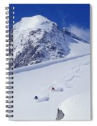 Two Young Men Skiing Untracked Powder Spiral Notebook