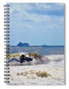 Tybee Island Kite Surfing Spiral Notebook