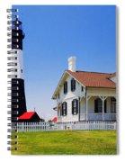 Tybee Island Light Spiral Notebook