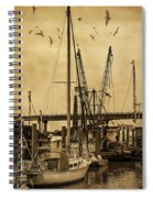 Tybee Island Shrimp Boats Spiral Notebook