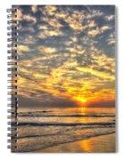 Calm Seas And A Tybee Island Sunrise Spiral Notebook
