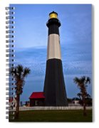 Tybee Light And Palms Spiral Notebook
